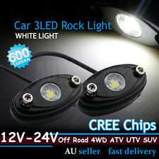 2x CREE LED Rock Light White Car Caravan ATV Offroad Camping Boat Undercar Light