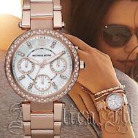 Original Michael Kors Uhr Damenuhr MK5616 Mini Parker Farbe:Rose Gold Strass NEU