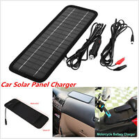 12V to 5V Portable Car Solar Panel Battery Maintainer Charger For Boat Van Truck