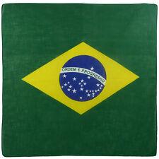 Brasile Bandiera Brasiliana Bandana 55x55cm Biker Testa Wrap Sciarpa