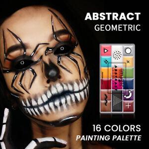 Face Body Paint Oil Palette 16 Colors Face Painting Makeup Palette Tattoo Paint