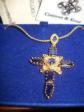 Camrose & Kross Jacqueline Jackie Kennedy North Star Cross Pendant w/Box etc