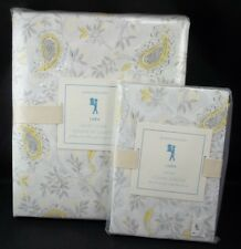 Pottery Barn Kids Lara Duvet Cover Full Queen Gray Yellow Paisley 1 Std Sham