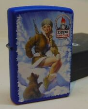 ZIPPO LIGHTER RUSSIAN ZIPPO FAN CLUB PIN UP WITH COA RARE LIMITED 31 of 36 NEW