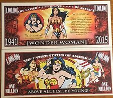 Wonder Woman Million Dollar Bill ( DC Comics / Super Heroes )