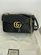 Gucci GG Marmont Small Matelassé Shoulder Bag - Black