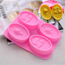 Silicone Christmas Bell Deer Handmade Soap Mold Cake Chocolate Mould Baking Tool