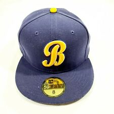 Montgomery Biscuits New Era Authentic Home 59FIFTY Fitted Size 8 Hat - Navy