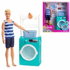 Waschmaschine mit Puppe Ken | Barbie | Mattel FYK52 | Möbel Einrichtung