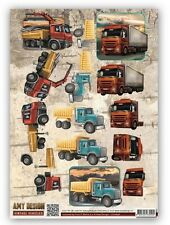 AMY'S 3D PUSH OUT DECOUPAGE FOR CARDS & CRAFTS - VINTAGE VEHICLES TRUCKS
