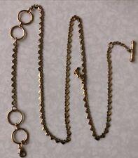 Chain for Women's Pocket Watch Antique Vintage 14K Gold Filled