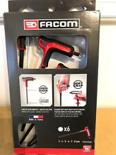 FACOM Tee Handle POWER HEX ALLEN KEY SET 3mm 4mm 5mm 6mm 7mm 8mm - Boxed