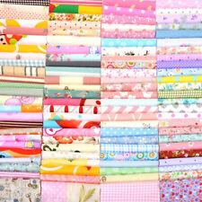 100pcs 12*10cm Floral Cotton Fabric Bundle Patchwork Scraps Quilting Sewing US ^
