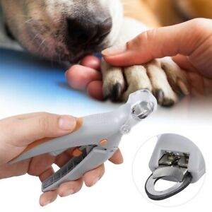 Pet Dog Cats Nail Clipper Scissors LED Light & 5X Magnifier Safety Trimmer Tool