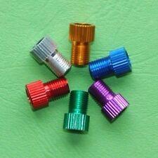 1-5 Fahrrad Ventil Adapter, SV-, Dunlop-, Presta- auf Autoventil, div. Farben
