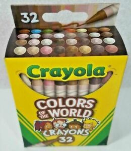 🖍 Crayola Colors of the World Multicultural Crayons 32 Pack Diversity