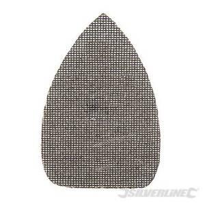 10 x Hook & Loop Mesh Triangle Sandpaper Sheets 80 Grit 150 x 100mm For Sander