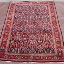 """Tribal Antique 1920's Kurdish Hand-Knotted Wool Oriental Rug Excellent 4'8"""" x7'"""