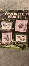 Leisure arts favorite perch counted cross-stitch bird designs 8 patterns
