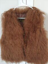 New 100% Genuine Mongolian Fur Women Short Vest