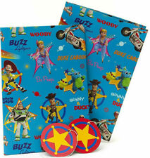 Disney TOY STORY 4 Gift Wrapping Sheets + Tags x 2 Woody Buzz Lightyear Jessie