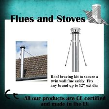 """Roof brace kit for Twin Wall flue Universal - any brand up to 12"""" external dia"""