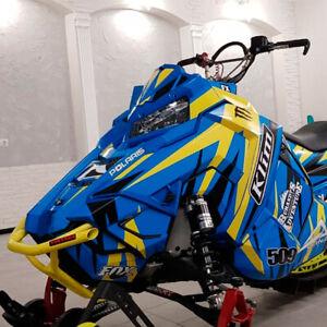 Snowmobile decal wrap Graphic Template for Polaris AXYS RMK, Polaris TITAN #2