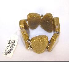 Style & Co. Bracelet, Gold Tone Glitter Resin Shell Stretch Bracelet
