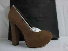 Report Signature Size 7.5 M Alvahs Brown Leather Pumps Heels New Womens Shoes