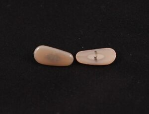 Amber Beige Clip-On Nose Pads for RB Aviator Sunglasses Eyeglasses Frame 2 pairs