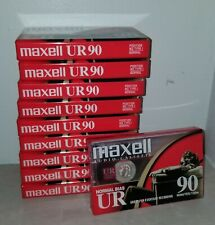 Maxell UR 90 Cassette Tapes Lot of 10 - 90 Minute Normal Bias Audio NEW - SEALED