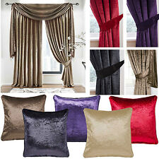 """Velvet 3"""" pencil pleat lined curtains - Perfect shades of 5 colours - SMART LOOK"""