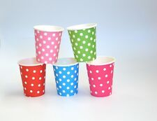 Wholesale 50/100PCS Polka Dot Disposable Paper Cup 7oz Party Tableware Catering