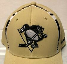 8ba15d818fd REEBOK NHL PITTSBURGH PENGUINS FLEX FIT FITTED LOGO CAP HAT PRO SHAPE S M