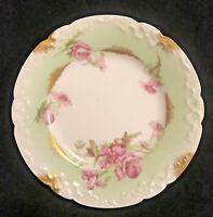 """Elite Works France Limoges Porcelain Dessert Plate 6"""" Antique Floral Pink Rare"""