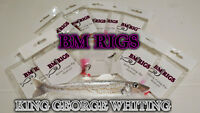 BM RIGS 8 x Whiting Flasher Rigs with circle hooks Fishing Reel Rod Tackle