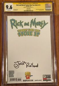 RICK AND MORTY #1 BLANK SKETCH VARIANT CGC 9.8 SIGNED JUSTIN ROILAND
