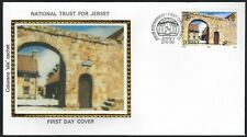 Jersey Fdc - Natl Trust 50th Anniversary - Morel Farm - Colorano Silk Cachet!