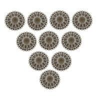 36 mm Antique Brass Round Hollow Filigree Charms Pendant DIY Jewelry 10 Pcs
