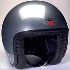 Davida Jet Silver Motorcycle Helmet Size XS 54cm