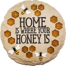 New Garden Outdoor Home Is Where Your Honey Is Bee Hive Stepping Stone Rock