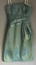 New with Tags Metallic Green MR K Strapless Knee Length Dress Size 6
