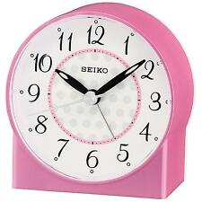 Seiko QHE136P Durable High Quality Sweep Second Hand Beep Alarm Clock - Pink