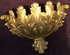 Burwood Wall Pocket Planter Gold Tone Hollywood Regency Home Interior Decor