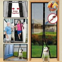 Magic Magnetic Door Insect Mesh Bug Fly Mosquito Screen Fastening Black Curtain