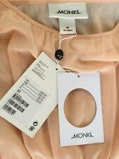 MONKI dress size Medium, BNWT, Anne dress, soft peach colour, inner slip,