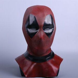 Cosplay Marvel Rot Deadpool Maske Vollkopf Superheld Maskerade Maske Requisiten