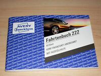 Fahrtenbuch 40 Blatt Zweckform 222 A6 quer PKW Finanzamt anerkannt Neu