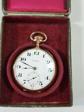Old antique Pocket watch American Waltham Ensing 14k Gold