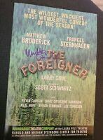 """MATTHEW BRODERICK SIGNED """"FOREIGNER"""" BROADWAY PROMO CARD W/COA+PROOF RARE WOW"""